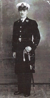 As Master at Arms and a Warrant Officer, Charles was the senior rating in the ship. He was in charge of discipline, and would have been known to every man on board with his authority unquestioned. Standing 6 feet 4 inches tall he must have been an imposing figure. Photo provided by his nephew, Joe Ashton of Chorley, Lancashire.\n