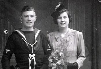 William G.A.Gundry, P.O. Stoker D KX85154 with his wife\n\n